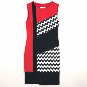 Joseph Ribkoff | Sheath Dress Red Black Print
